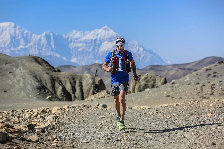 Running in Nepal finish line