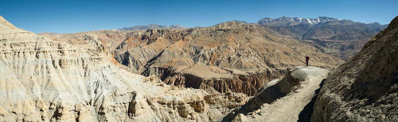 Nepal mustang trek panorama