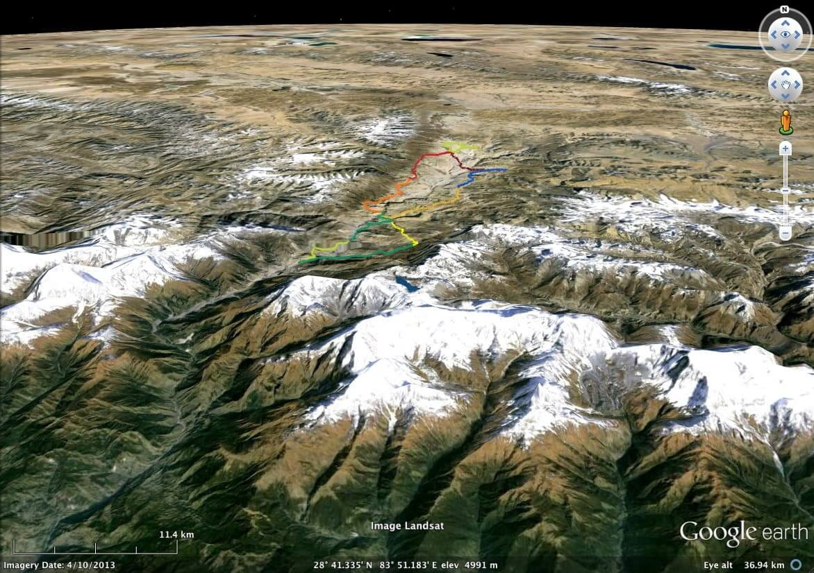 Google Earth Mustang 2014 route