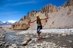 tite togni river crossing mustang Nepal