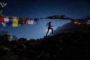 Ragna Debats running in Nepal