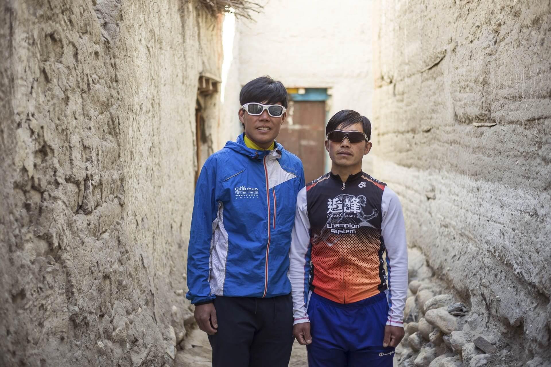 Suman Kulung and Kiran Kulung at the Mustang Trail Race
