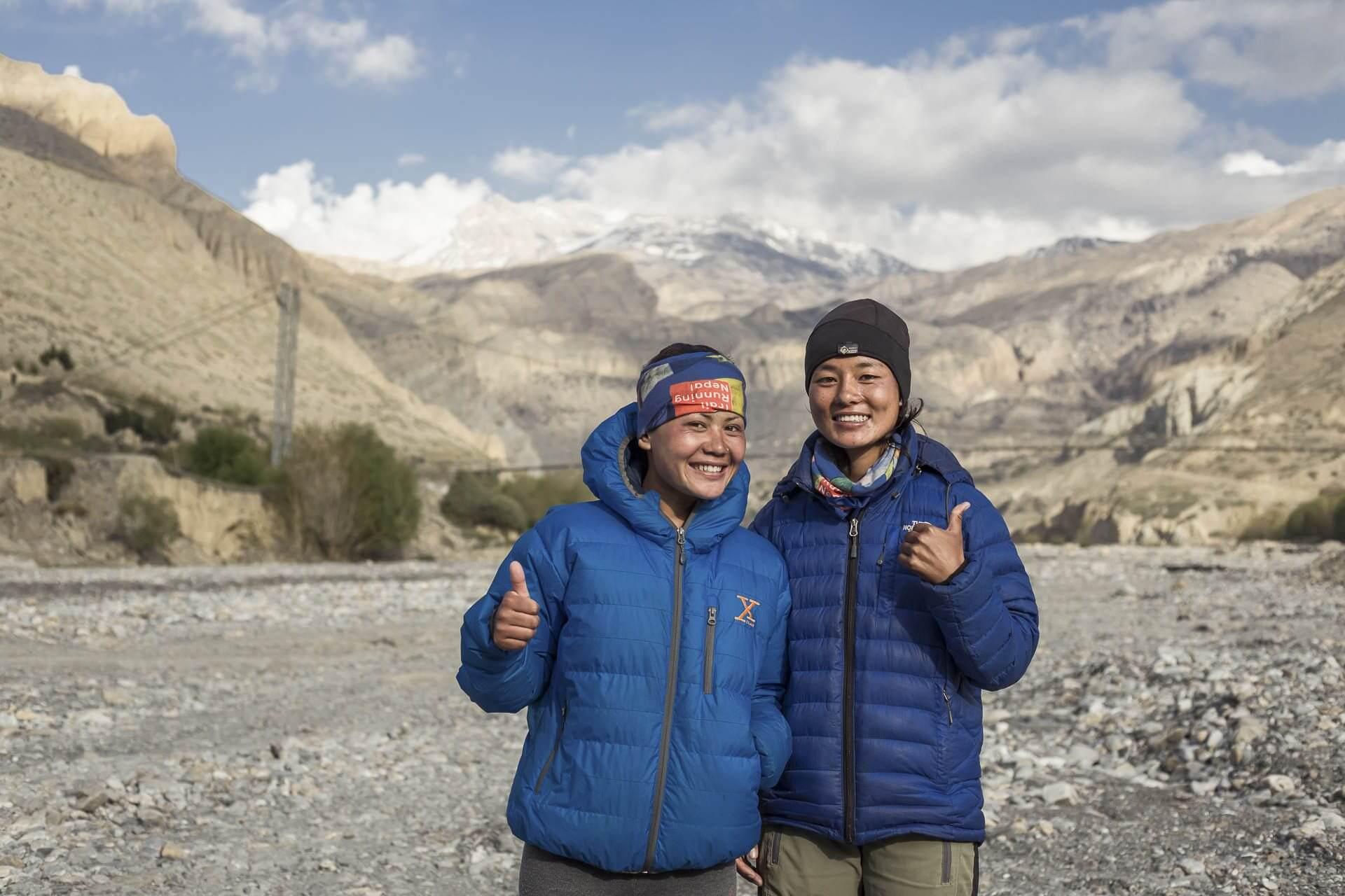 Priya Tamang runner, Rashila Tamang in Mustang